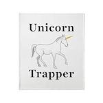 Unicorn Trapper Throw Blanket
