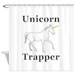 Unicorn Trapper Shower Curtain