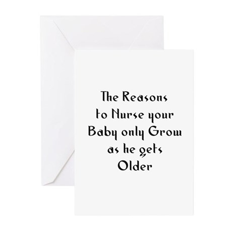 The Reasons to Nurse your Bab Greeting Cards (Pk o