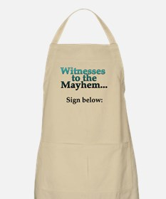 Witnesses to the Mayhem BBQ Apron
