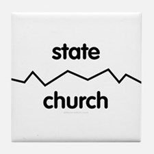 Separate Church and State Tile Coaster