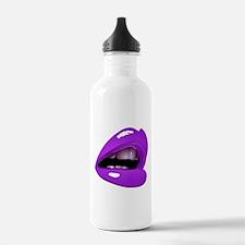 Glossy Purple Lips Gla Water Bottle