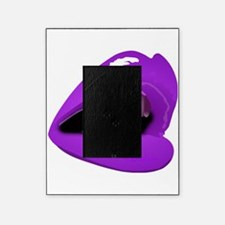 Glossy Purple Lips Glam Sexy Kiss Picture Frame