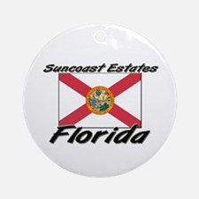 Suncoast Estates Florida Ornament (Round)