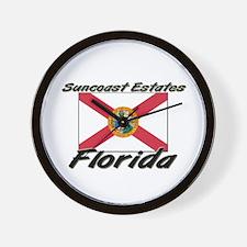 Suncoast Estates Florida Wall Clock