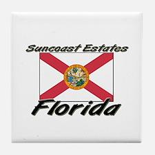 Suncoast Estates Florida Tile Coaster
