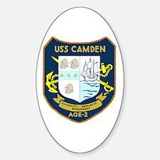 USS Camden (AOE 2) Oval Decal