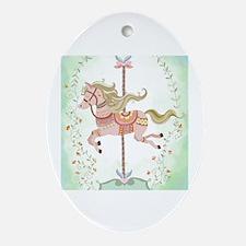 Cute Carousel animal Oval Ornament