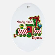 Candy Cane Express Keepsake (Oval)