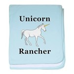Unicorn Rancher baby blanket