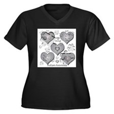 Funny Autism Women's Plus Size V-Neck Dark T-Shirt