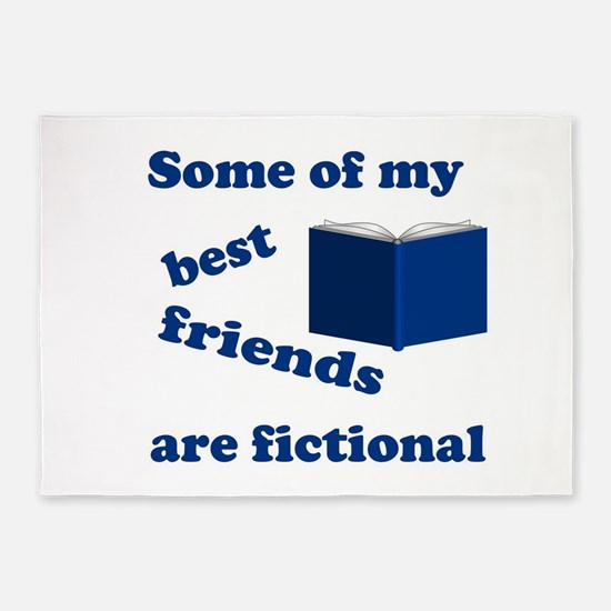 Some of my Best Friends are Fictional 5'x7'Area Ru