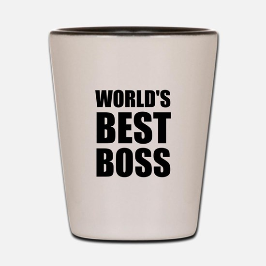 Worlds Best Boss 2 Shot Glass