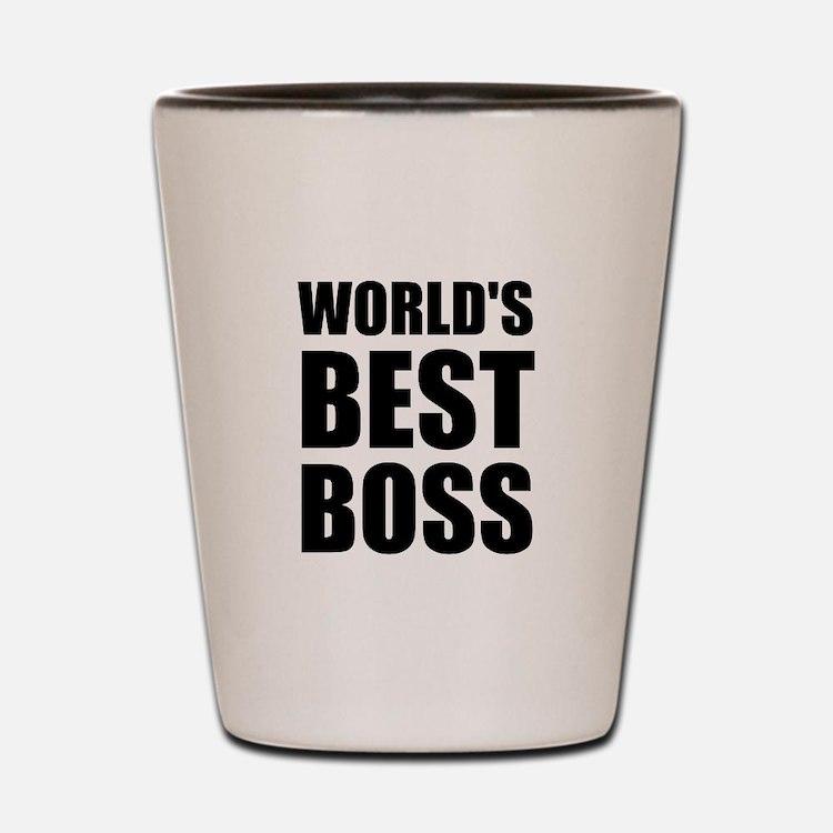 Worlds Best Boss 2 Shot Glass