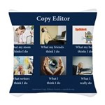 Copy Editor Reality Woven Throw Pillow