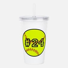 Softball with Custom P Acrylic Double-wall Tumbler