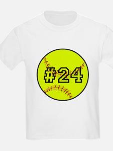 Softball with Custom Player Num T-Shirt