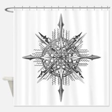 Symmetry, a Diatom by Ernst Haeckel Shower Curtain