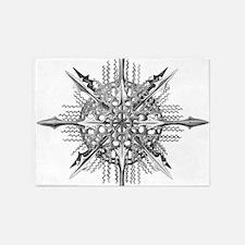 Symmetry, a Diatom by Ernst Haeckel 5'x7'Area Rug