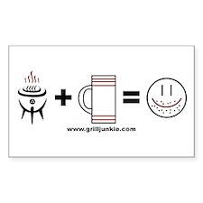 Grilling + Beer = Happy Bumper Stickers
