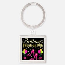 30TH PARTY Square Keychain