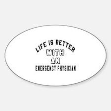 Emergency Physician Designs Sticker (Oval)