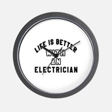 Electrician Designs Wall Clock