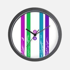 11:11 Colorful Floral Wall Clock