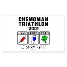 2001 Chemoman Triathlon Rectangle Decal