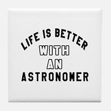 Astronomer Designs Tile Coaster