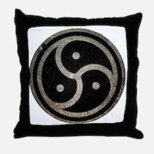 Funny Bdsm symbol Throw Pillow