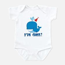 1st Birthday Whale Infant Bodysuit