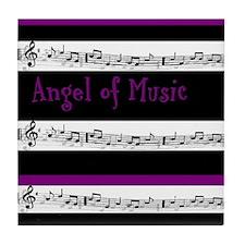"""Angel of Music"" Tile Coaster"