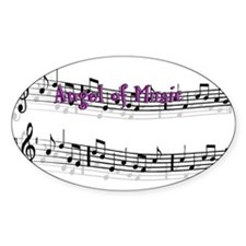 Angel of Music Oval Decal
