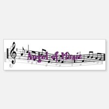 """Angel of Music"" Bumper Car Car Sticker"