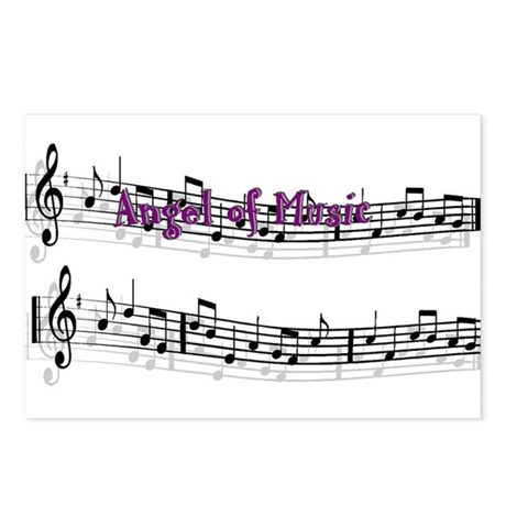 """""""Angel of Music"""" Postcards (Package of 8)"""