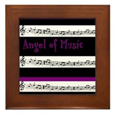 Angel of Music Framed Tile