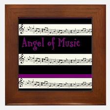 Angel of Music Framed Tile