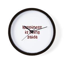 happiness is being Zaida Wall Clock