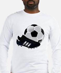 Soccer Ball And Shoes Long Sleeve T-Shirt