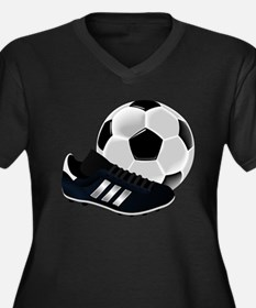 Soccer Ball And Shoes Plus Size T-Shirt