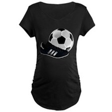 Soccer Ball And Shoes Maternity T-Shirt