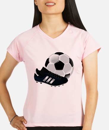 Soccer Ball And Shoes Performance Dry T-Shirt