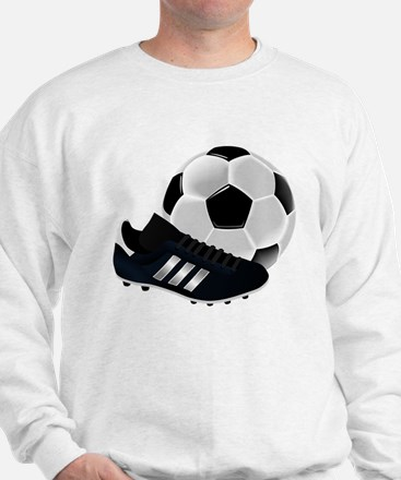 Soccer Ball And Shoes Sweatshirt