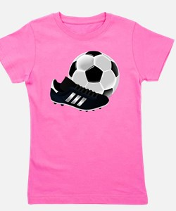 Soccer Ball And Shoes Girl's Tee