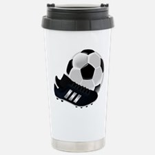 Soccer Ball And Shoes Stainless Steel Travel Mug
