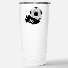 Soccer Ball And Shoes Travel Mug