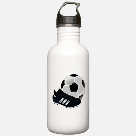 Soccer Ball And Shoes Water Bottle