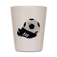 Soccer Ball And Shoes Shot Glass