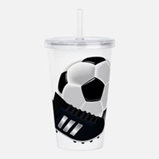 Soccer Ball And Shoes Acrylic Double-wall Tumbler